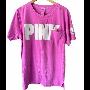 PINK pink Cotton T-Shirt Short Sleeve Lrg